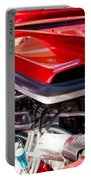 Candy Apple Red Horsepower - Ford Racing Engine Portable Battery Charger