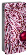 Candy Cane And Red Ornament Portable Battery Charger