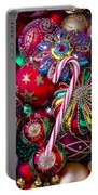 Candy Canes And Colorful Ornaments Portable Battery Charger