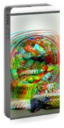 Candy Jar - Use Red-cyan Filtered 3d Glasses Portable Battery Charger
