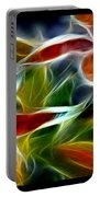 Candy Lily Fractal Triptych Portable Battery Charger