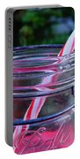 Candycane In Ball Jar Portable Battery Charger
