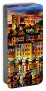 Cannes-france - Palette Knlfe Oil Painting On Canvas By Leonid Afremov Portable Battery Charger
