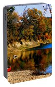 Canoe On The Gasconade River Portable Battery Charger
