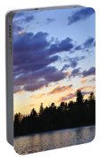 Canoeing At Sunset Portable Battery Charger