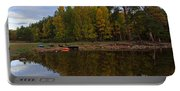 Canoes On The Shore At Loch An Eilein Portable Battery Charger