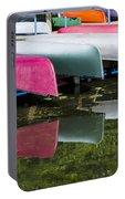 canoes - Lake Wingra - Madison  Portable Battery Charger