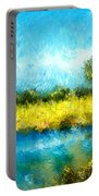 Canola Fields Impressionist Landscape Painting Portable Battery Charger