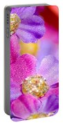 Canvas Flowers Portable Battery Charger