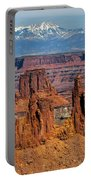 Canyon View From Mesa Arch Overlook Portable Battery Charger