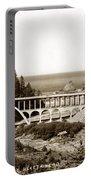 Cape Creek Bridge And Heceta Oregon Head Lighthouse  Circa1933 Portable Battery Charger
