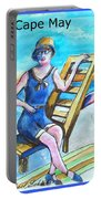Cape May Illustration Poster Portable Battery Charger