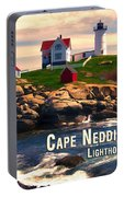 Cape Neddick Lighthouse  At Sunset  Portable Battery Charger