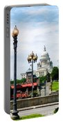 Capitol Building Seen From Waterplace Park Portable Battery Charger by Susan Savad
