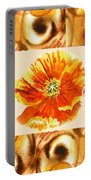 Cappuccino Abstract Collage Poppy Portable Battery Charger