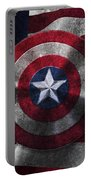 Captain America Shield On Usa Flag Portable Battery Charger