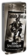 Captain Morgan Black And White Portable Battery Charger