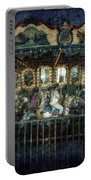 Captive On The Carousel Of Time Portable Battery Charger
