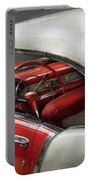 Car - Classic 50's  Portable Battery Charger by Mike Savad