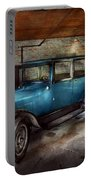 Car - Granpa's Garage  Portable Battery Charger by Mike Savad