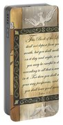 Caramel Scripture Portable Battery Charger by Debbie DeWitt