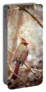 Cardinal Birds Female Portable Battery Charger