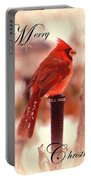 Cardinal Christmas Card Portable Battery Charger