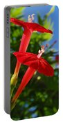 Cardinal Climber Flowers Portable Battery Charger
