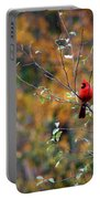 Cardinal In Autumn Portable Battery Charger