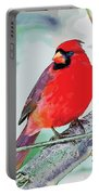 Cardinal In Ice Tree Portable Battery Charger