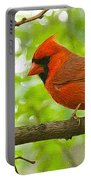 Cardinal In Red Portable Battery Charger