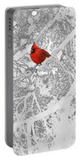 Cardinal In Winter Portable Battery Charger by Ellen Henneke
