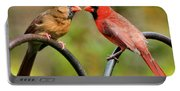 Cardinal Love Portable Battery Charger