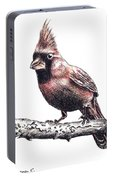 Cardinal Male Portable Battery Charger
