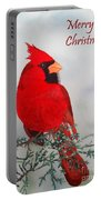 Cardinal Merry Christmas Portable Battery Charger