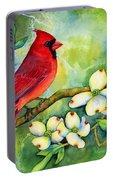 Cardinal On Dogwood Portable Battery Charger