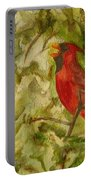 Cardinal Singing Portable Battery Charger