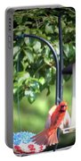 Cardinal Tail Wide Landing Digital Art Portable Battery Charger