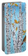Cardinals Among The Birch-jp2061 Portable Battery Charger