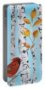 Cardinals Among The Birch-d Portable Battery Charger