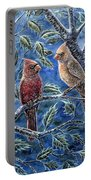 Cardinals And Holly Portable Battery Charger