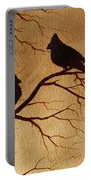 Cardinals Silhouettes Coffee Painting Portable Battery Charger