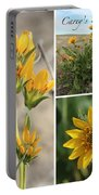 Carey's Balsamroot Collage Portable Battery Charger