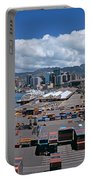 Cargo Containers At A Harbor, Honolulu Portable Battery Charger