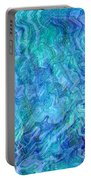 Caribbean Blue Abstract Portable Battery Charger