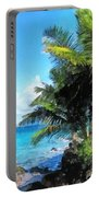 Caribbean - Palm Trees And Beach St. Thomas Vi Portable Battery Charger