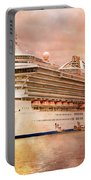 Caribbean Princess In A Different Light Portable Battery Charger by Betsy Knapp