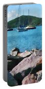 Caribbean - Rocky Shore St. Thomas Portable Battery Charger