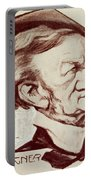 Caricature Of Richard Wagner Portable Battery Charger