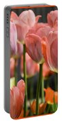 Caring Pink Tulip Time Portable Battery Charger